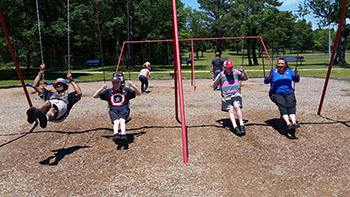 AMIB Residents On swings