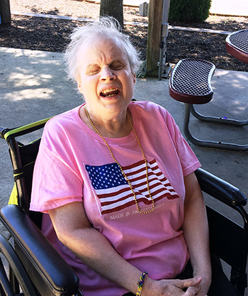 Susan happy to celebrate Memorial Day